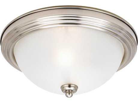 Sea Gull Lighting Ceiling Brushed Nickel Two-Light 12.5'' Wide Flush Mount Light SGL77064962