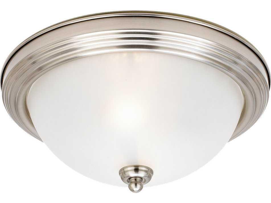Sea Gull Lighting 44236 962 2 Light Brushed Nickel: Sea Gull Lighting Ceiling Brushed Nickel Two-Light 12.5
