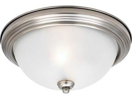 Sea Gull Lighting Ceiling Antique Brushed Nickel Two-Light 12.5'' Wide Flush Mount Light SGL77064965