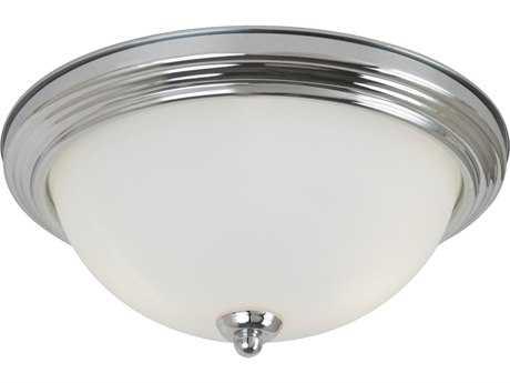Sea Gull Lighting Ceiling Chrome Three-Light 15.25'' Wide Flush Mount Light SGL7706505