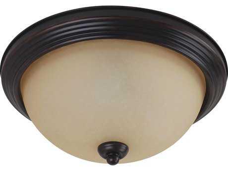 Sea Gull Lighting Ceiling Burnt Sienna Three-Light 14.5'' Wide Flush Mount Light SGL77065710