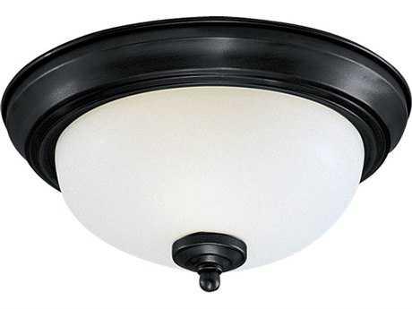 Sea Gull Lighting Ceiling Heirloom Bronze Three-Light 14.5'' Wide Flush Mount Light SGL77065782