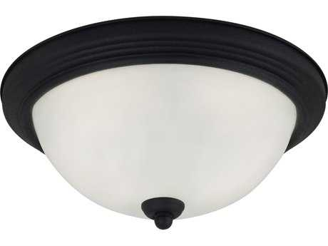 Sea Gull Lighting Ceiling Blacksmith Three-Light 15.25'' Wide Flush Mount Light SGL77065839