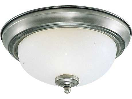 Sea Gull Lighting Ceiling Brushed Nickel Three-Light 14.5'' Wide Flush Mount Light SGL77065962
