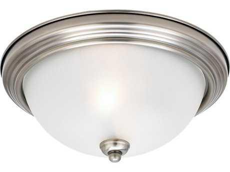 Sea Gull Lighting Ceiling Antique Brushed Nickel Three-Light 14.5'' Wide Flush Mount Light SGL77065965