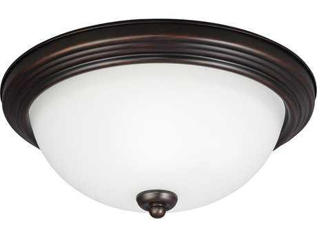 Sea Gull Lighting Ceiling Burnt Sienna Three-Light 15.25'' Wide Flush Mount Light SGL77265710