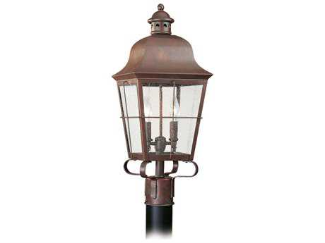Sea Gull Lighting Chatham Weathered Copper Two-Light Outdoor Post SGL826244