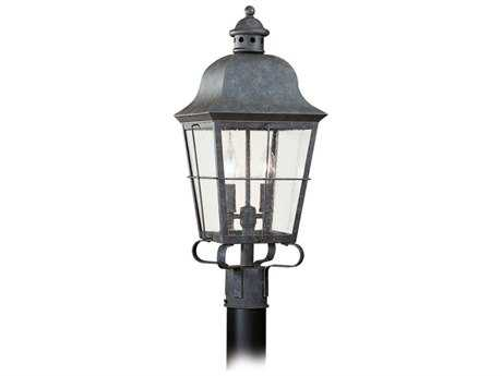 Sea Gull Lighting Chatham Oxidized Bronze Two-Light Outdoor Post SGL826246