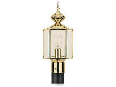 Sea Gull Lighting Classico Polished Brass Outdoor Post