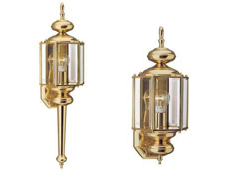 Sea Gull Lighting Classico Polished Brass Outdoor Wall Light