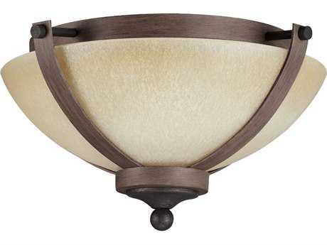 Sea Gull Lighting Corbeille Stardust & Cerused Oak Two-Light 15.25'' Wide Flush Mount Light SGL7580402846