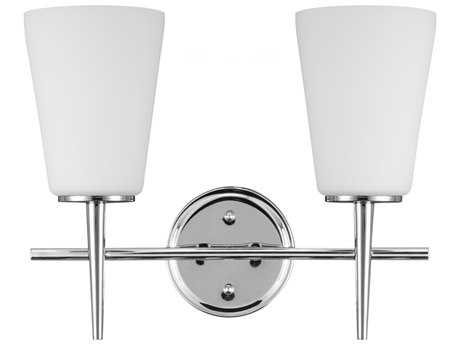 Sea Gull Lighting Driscoll Chrome Two-Light Wall Sconce SGL444040205