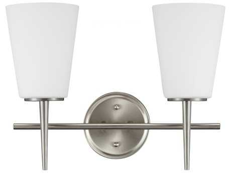 Sea Gull Lighting Driscoll Brushed Nickel Two-Light Wall Sconce SGL4440402962