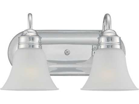 Sea Gull Lighting Gladstone Chrome Two-Light Wall Sconce