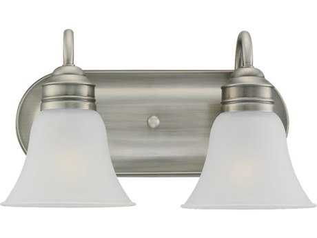 Sea Gull Lighting Gladstone Antique Brushed Nickel Two-Light Wall Sconce SGL44851965