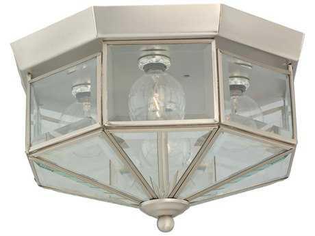 Sea Gull Lighting Grandover Brushed Nickel Four-Light 11'' Wide Flush Mount Light SGL7662962