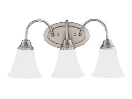 Sea Gull Lighting Holman Brushed Nickel Three-Light Vanity Light SGL44807962