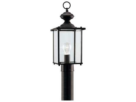Sea Gull Lighting Jamestowne Black Outdoor Post