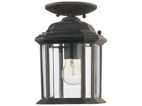 Sea Gull Lighting Kent Black Outdoor Hanging Light