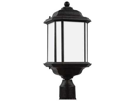 Sea Gull Lighting Kent Oxford Bronze 20.25'' Wide Outdoor Post Light with Satin Etched Glass SGL82529746