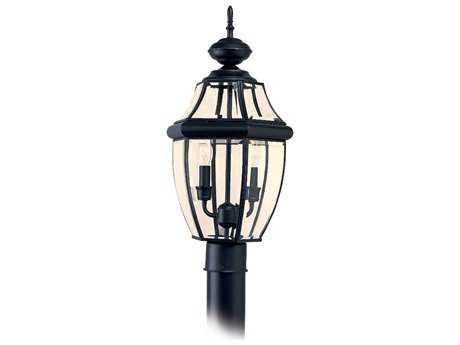 Sea Gull Lighting Lancaster Black Two-Light Outdoor Post
