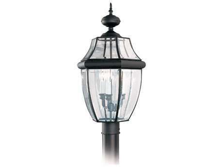 Sea Gull Lighting Lancaster Black Three-Light Outdoor Post SGL823912