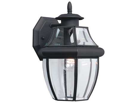 Sea Gull Lighting Lancaster Black Outdoor Wall Light SGL803812