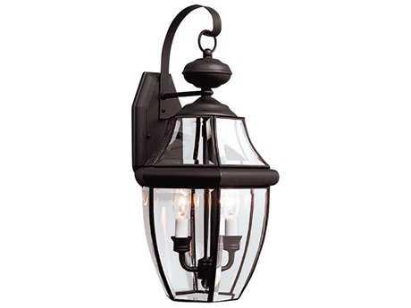 Sea Gull Lighting Lancaster Black Two-Light Outdoor Wall Light