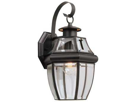 Sea Gull Lighting Lancaster Black Outdoor Wall Light SGL806712