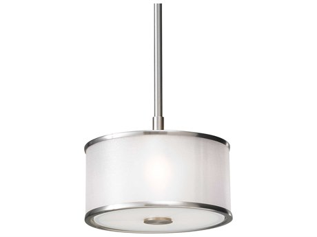Sea Gull Lighting Casual Luxury Brushed Steel 8'' Wide Mini Pendants