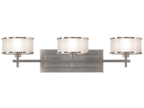 Sea Gull Lighting Casual Luxury Brushed Steel Vanity Light