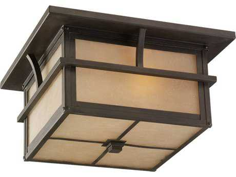 Sea Gull Lighting Medford Lakes Statuary Bronze Two-Light Outdoor Ceiling Light SGL7888051