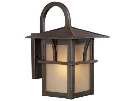 Sea Gull Lighting Medford Lakes Statuary Bronze 9'' Wide Outdoor Wall Light SGL8888151