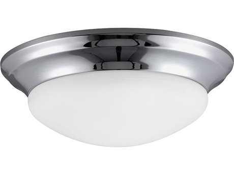 Sea Gull Lighting Nash Chrome 11.5'' Wide Flush Mount Light SGL7543405