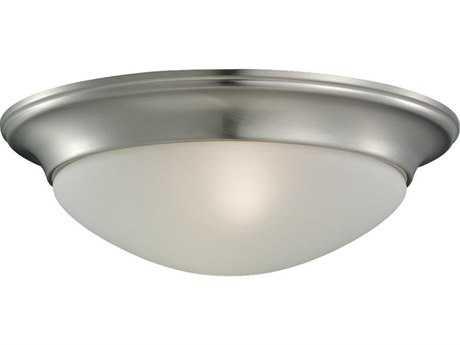 Sea Gull Lighting Nash Brushed Nickel Two-Light 14'' Wide Flush Mount Light SGL75435962