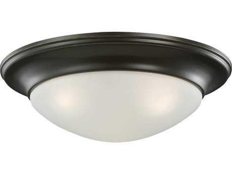 Sea Gull Lighting Nash Heirloom Bronze Three-Light 16.75'' Wide Flush Mount Light SGL75436782