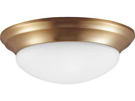 Sea Gull Lighting Nash Satin Bronze Three-Light 16.75'' Wide Flush Mount Light SGL75436848