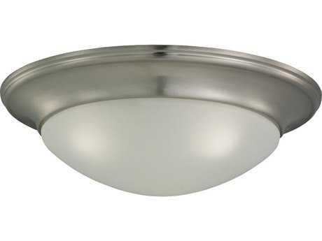 Sea Gull Lighting Nash Brushed Nickel Three-Light 16.75'' Wide Flush Mount Light SGL75436962