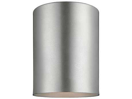 Sea Gull Lighting Bullets Painted Brushed Nickel Outdoor Flush Mount Light