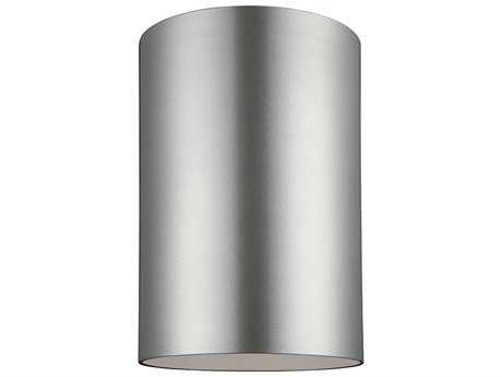 Sea Gull Lighting Bullets Painted Brushed Nickel Outdoor Flush Mount Light SGL7813901753
