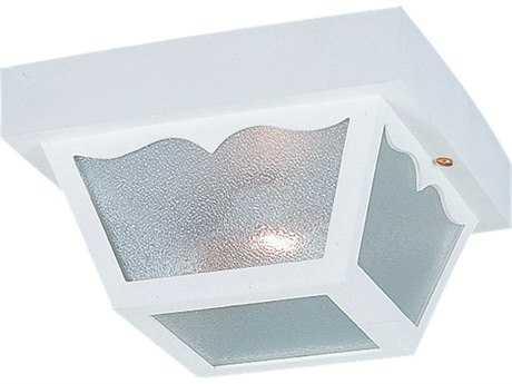 Sea Gull Lighting Outdoor Ceiling White 1 Glass Light
