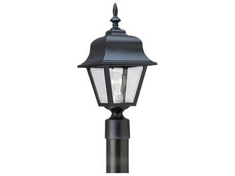 Sea Gull Lighting Painted Polycarbonate Black Outdoor Post