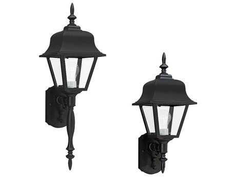 Sea Gull Lighting Painted Polycarbonate Black Outdoor Wall Light SGL876512