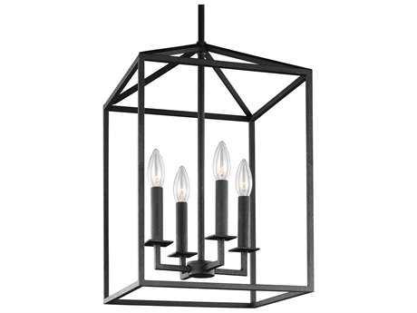 Sea Gull Lighting Perryton Blacksmith Four-Light 23.25'' Wide Mini Chandelier