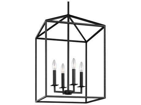 Sea Gull Lighting Perryton Blacksmith Four-Light 18.5'' Wide Mini Chandelier SGL5215004839