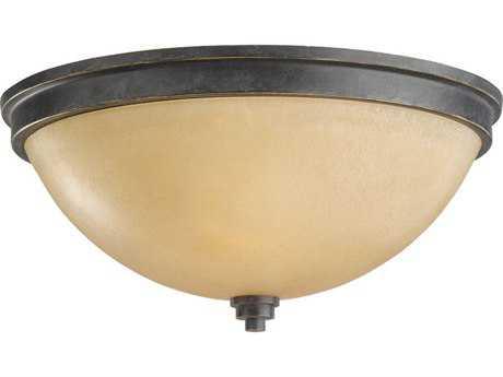 Sea Gull Lighting Roslyn Flemish Bronze Two-Light 13.25'' Wide Flush Mount Light SGL75520845