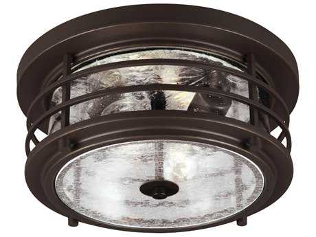 Sea Gull Lighting Sauganash Antique Bronze Two-Light Outdoor Flush Mount Light SGL782440271