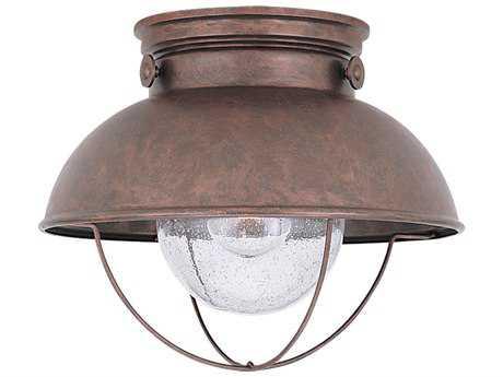 Sea Gull Lighting Sebring Weathered Copper Outdoor Ceiling Light