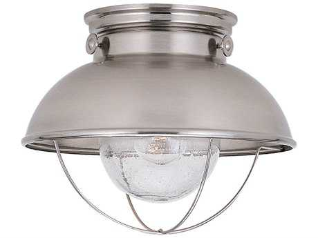 Sea Gull Lighting Sebring Brushed Stainless Outdoor Ceiling Light SGL886998