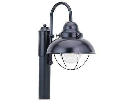 Sea Gull Lighting Sebring Black Outdoor Post
